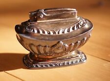 Ronson Georgian Table Lighter Silver Plate Crown Fuel Vintage 1940-50's