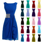 Stock Crystals Formal Prom Party Evening Cocktail Gowns Short Bridesmaid Dresses