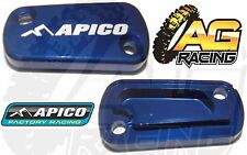 Apico Blue Rear Brake Master Cylinder Cover For Suzuki RM 250 04-08 Motocross