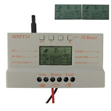 LCD 30A MPPT Solar Panel Regulator Charge Controller 12V/24V 380W/760W USB  SS