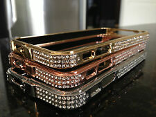 NEWEST Swarovski Crystal bumper for iphone 5, ROSE GOLD/CLEAR crystal bling case