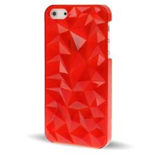 FUNDA IPHONE 5S 5 CARCASA RIGIDA ROJA DURA 3D ROJO RED CASE
