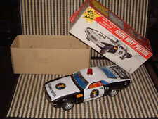 "TAIYO VINTAGE, FULLY WORKING W/ORIGINAL BOX, ""HIGH WAY PATROL"" TORONADO TIN CAR!"