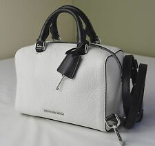 Michael Kors Black White Leather Kirby XS Small Satchel