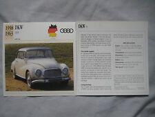DKW 1000 & F1 Collectors Classic Car Cards