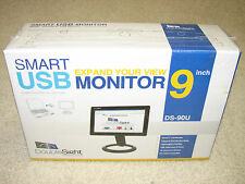 "DoubleSight DS-90U Black 9"" 1024 x 600 30ms Adjustable USB LCD Monitor *New*"