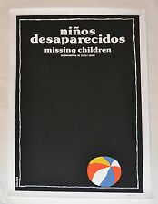 "Cuban Movie Poster""Lost Missing Children""Signed by artist.Prize winner artwork."