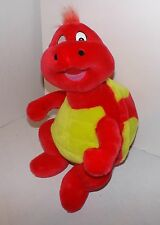 LARGE BIG PLUSH TURTLE-B.J. TOY CO.-RED YELLOW POLKA DOT-BRIGHT-COLOFUL-EUC