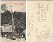 AK Lyon Union des Corps de Sapeurs-Pompiers 1908 nach La Haye-du-Puits