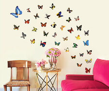 45 30CM Multicolor Mariposas Pared Ventana Coche Libro Pegatina Decoración Arte