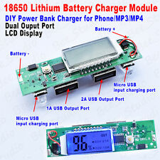 18650 Lithium ion battery 5V 1A 2A Dual USB LCD all-in-one boost Charger Module