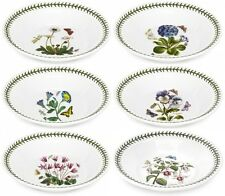 "PORTMEIRION BOTANIC GARDEN 6 x SOUP BOWLS 8.25""/21cm - NEW/UNUSED"