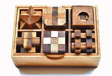 6 Puzzle Set , Games & Puzzles, Wooden Puzzle , Wooden games , Christmas Gift