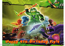 Ninjago CAKE TOPPER PERSONALISED ICING SUGAR FOR BIRTHDAY PARTY A4 img z19