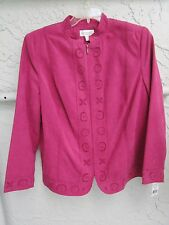 NEW WITH TAGS *CONRAD C * DILLARD'S * ROSE PINK *WASHABLE SUEDE *JACKET * SZ 16