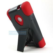 BLACK RED HARD REFINED HYBRID CASE COVER FOR NOKIA LUMIA 521 TMOBILE PHONE