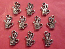 Tibetan Silver Paint Pot/Artists Pot Charms - 10 per pack