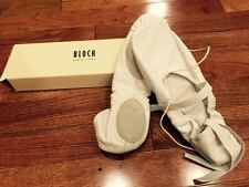 Bloch So203l White Leather Hybrid Ballet Shoes, Sz 9b, New