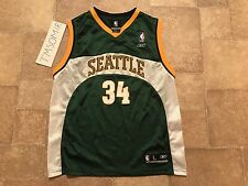 Vintage Throwback Ray Allen Seattle Supersonics Reebok Jersey Youth L