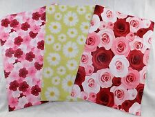 30 10x13 Designer Rose Daisy Hibiscus Mailer Poly Shipping Envelope Boutique Bag