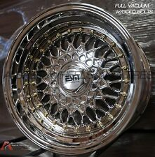 15X9 +10 ESM 002 RS STYLE 4X100/5x100 PLATINUM CHROME RIM Fits SCION HONDA BMW