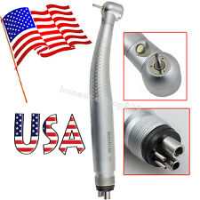 【USA】fit kavo turbine LED High Speed dental Handpiece Push button 3-Way 4 Holes