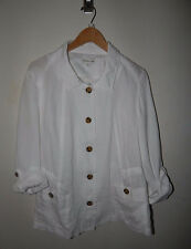 Coldwater Creek White Jacket size 14 linen  CLEARANCE