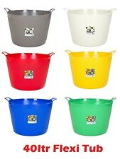 42 Litre Plastic Flexible Storage Flexi Tub  / Buckets / Container - Pack Of 3