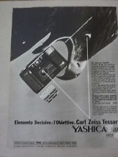 ADVERTISING PUBBLICITA' YASHICA T-AF ZEISS TESSAR  --1985