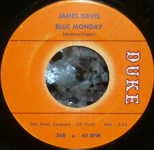 "* * BARGAIN PRICE! JAMES DAVIS '63 RARE SOUL 45 ""BLUE MONDAY/SING"" CLEAN M- GEM!"
