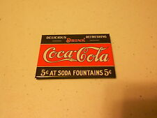 """3 1/4"""" x 2 1/4"""" Magnet (new) DRINK COCA COLA 5 CENTS AT SODA FOUNTAINS"""