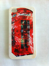 Vintage British Telephone Booth Art Printing iPhone 4/4S Case