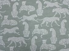MARSON LEOPARD CHEETAH GREEN DESIGNER CURTAINS BLINDS UPHOLSTERY WOVEN FABRIC