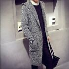 Fashion Mens Slim Fit Hooded knit Sweater Cardigan Trench Coat Jacket Hot Long