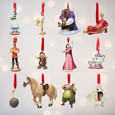 Disney Store Beauty and the Beast Deluxe Sketchbook Ornament Set Limited Edition