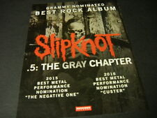 SLIPKNOT Grammy Nominated BEST ROCK ALBUM with GRAY CHAPTER 2016 Promo Poster Ad