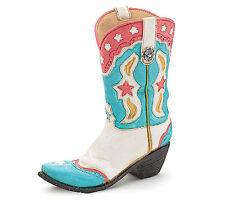 Cowboy Boot Vase Pink White Blue Western Table Centerpiece burton+BURTON
