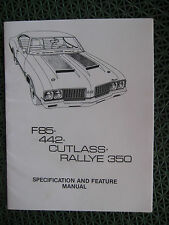 1970 Oldsmobile - F85 / 442 / Cutlass / Rallye 350 Specification and Feature Man
