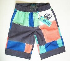 """BNWT """"ME TOO""""BOYS CHECK MESH LINED BERMUDA SWIM SHORTS from DENMARK, AGE 5 YEARS"""