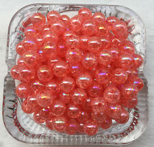 20pcS10mm Water red AB Chunky crack Beads Jewelry Pendant Bubblegum Necklace &1