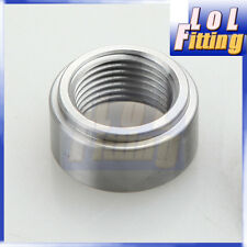 Weld O2 Sensor Bung 18mm x 1.5 M18 X 1.5 Mild Steel Nut fittings Silver