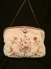 Beautiful! Vintage Hand Made in France for Jorelle Bags Seed Beads Purse