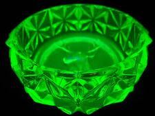 neon Green Vaseline glass Elk / Deer salt dip cellar celt Uranium dish whitetail