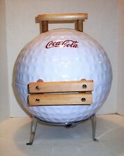 COKE COCA COLA GOLF BALL SHAPE, BARBECUE GRILL/SMOKER GRILL, NEW IN BOX