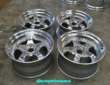 """JDM 18"""" 19"""" WORK Meister S1 Polished Wheels Rims 5x114.3 Staggered NSX SUPRA 240"""