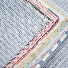 20X Vintage Print Cotton Linen Fabric 11cm Scraps Offcuts For DIY Craft Sewing