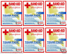 6 PACK Band-Aid Tough Pads 4 ct Hydrocolloid Adhesive 381371161485