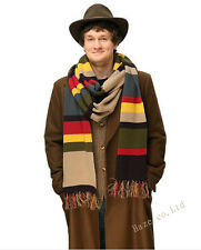 Hot Doctor Who Knitted Cosplay Costume DELUXE Tom Baker Striped Scarf