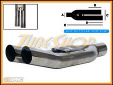 """ASPEC BLASTPIPES RIGHT TIPS 3"""" INLET T-304 STAINLESS UNIVERSAL MUFFLER EXHAUST"""