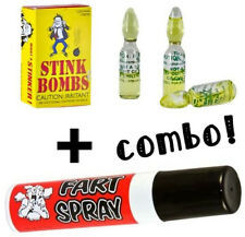 (3) Liquid Stink Bombs ~ Butt Crack Ass Smell + (1) Fart Spray ~COMBO SET~
